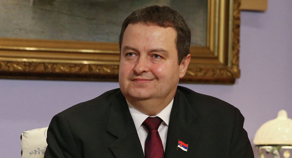 OSCE Chairman and Serbia's Foreign Minister Ivica Dacic