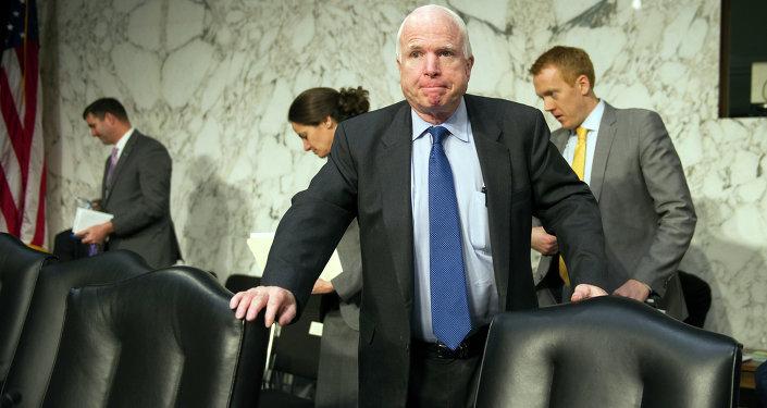 John the Grump McCain on Capitol Hill in Janurary.