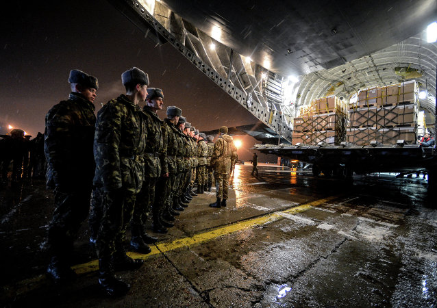 Over 3,000 sets of winter uniforms for Ukrainian servicemen were delivered to Boryspil airport by a Royal Canadian Air Force CC-177 Globemaster III aircraft