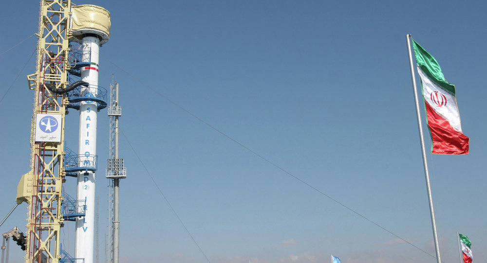 This photo released by the Fars News Agency claims to show an Iranian satellite launching rocket named Safir-2