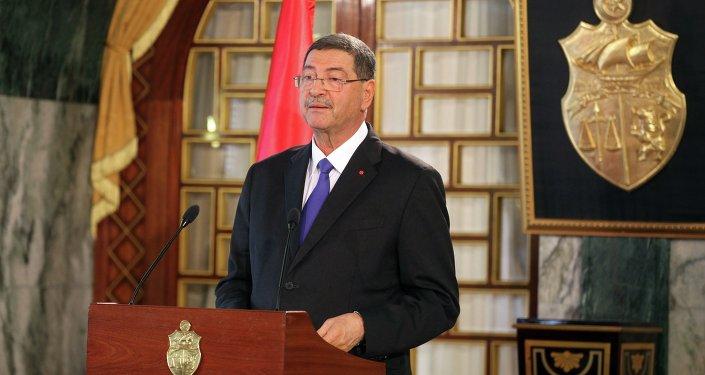 Tunisia's Prime Minister-designate Habib Essid speaks during a news conference in Tunis, February 2, 2015