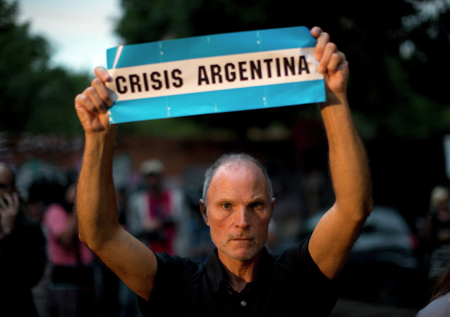 Demonstration on Buenos Aires Street Protesting Death of Prosecutor