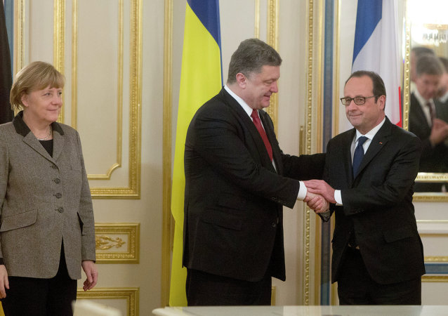 Poroshenko, Hollande, Merkel