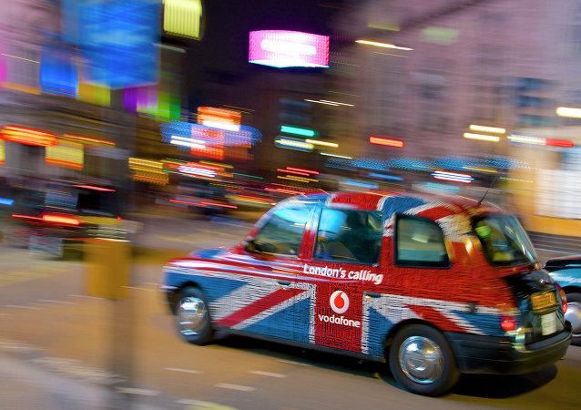 A cab in the centre of London