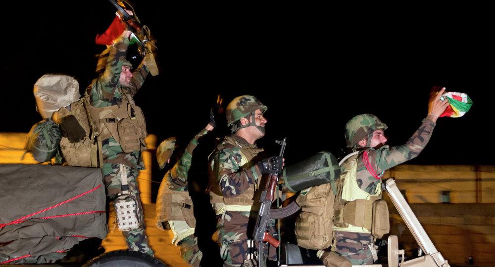 Iraqi Kurdish peshmerga fighters