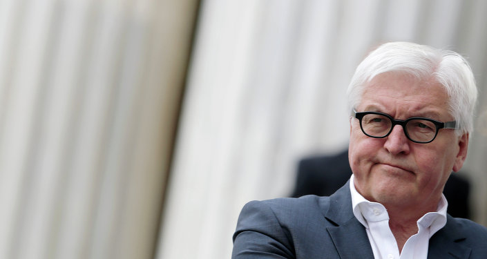 In an interview for a German newspaper published Thursday, the German Foreign Minister defended sanctions against Russia and economic assistance to Ukraine, but noted that negotiations with Russia must continue in the aim of finding a political solution to the conflict.