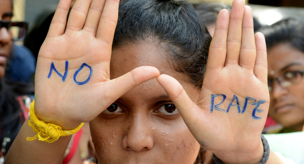 Indian students of Saint Joseph Degree college participate in an anti-rape protest in Hyderabad on September 13, 2013