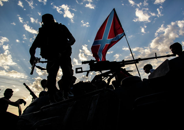Donbas militia in Eastern Ukraine