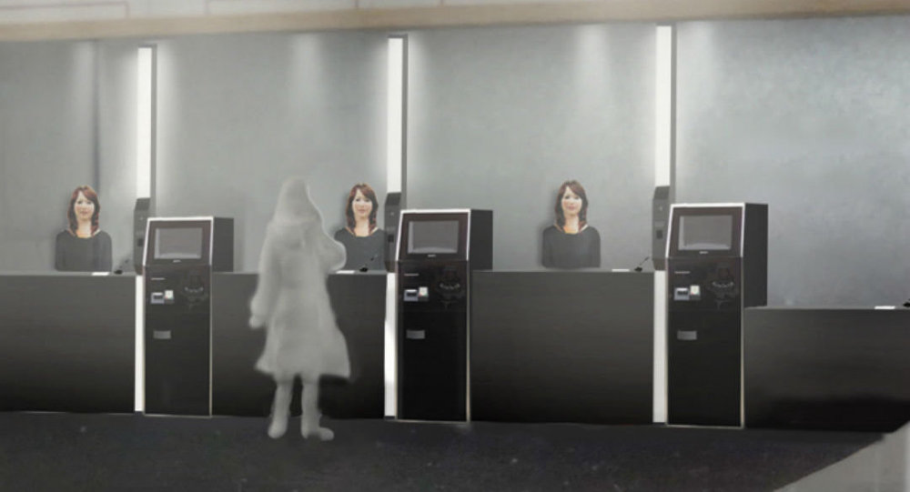"""The high-tech luxury resort in the Huis Ten Bosch amusement park in Nagasaki prefecture will have ten """"actroids"""" supplementing the human staff."""