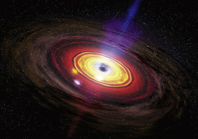 Supermassive black holes, the largest type of black hole, are usually found at the center of large galaxies.