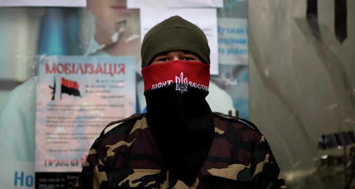 The Right Sector is an ultranationalist Ukrainian paramilitary group