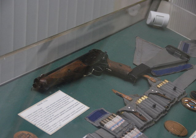 Russian cosmonauts carried a convertible shotgun which doubled as an axe and machete into space