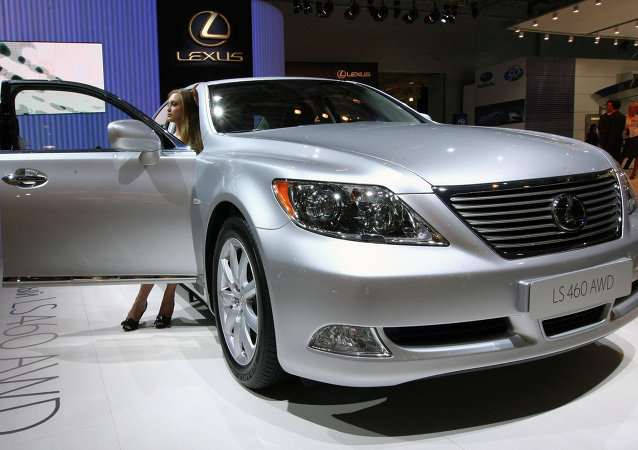 Japan's all-wheel sedan Lexus LS460 AWD - the world premiere at Moscow International Automobile Salon, Crocus Expo IEC