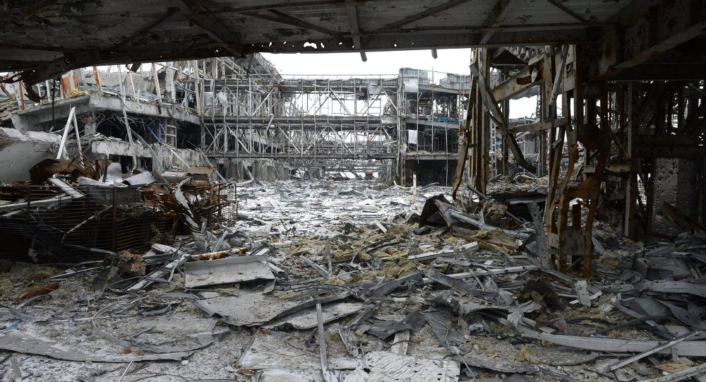 Destroyed airport in Donetsk