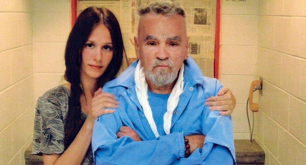 Afton Elaine Burton and her fiance, Charles Manson