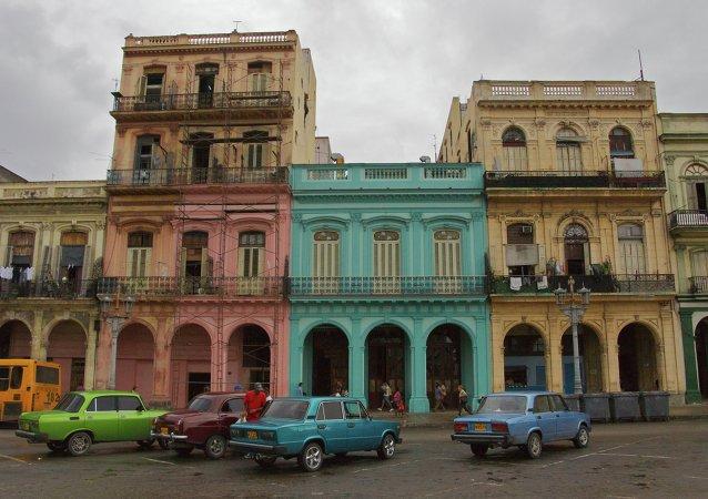 Russian cars in Havana, Cuba in December 2011