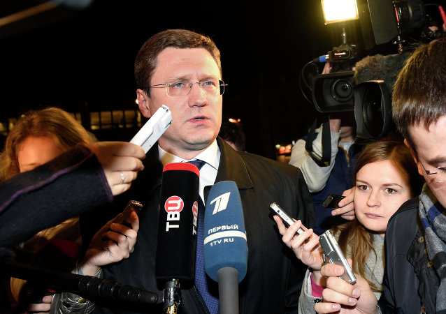 Alexander Novak, Russian Energy Minister, arrives at the European Union Commission headquarters in Brussels