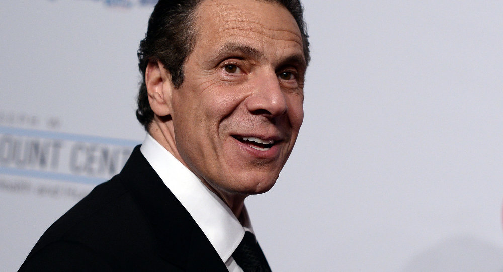 New York Governor Andrew Cuomo, arrives to attend the Elton John AIDS Foundation's 13th Annual An Enduring Vision Benefit on October 28, 2014 in New York