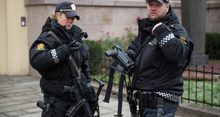 Armed police officers  in Oslo