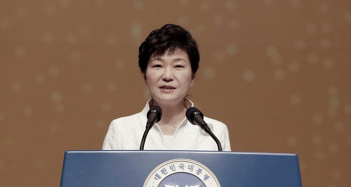 South Korean President Park Geun-hye speaks during a ceremony celebrating the 96th anniversary of Independence Movement Day, which commemorates the country's declaration of independence from Japanese colonization, in Seoul March 1, 2015