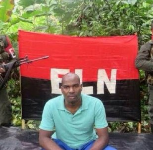 Alto Baudo Mayor Freddy Ramirez Palacios shown abducted by the National Liberation Army of Colombia (ELN)