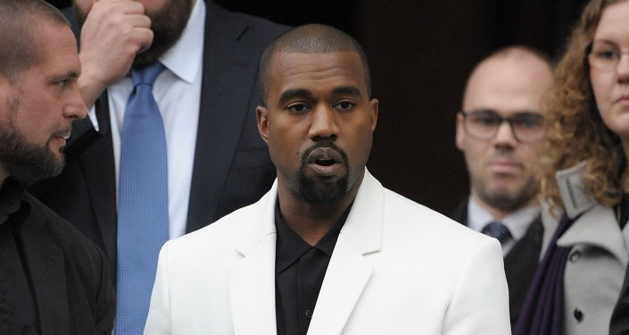 US singer Kanye West leaves St Paul's Cathedral in central London