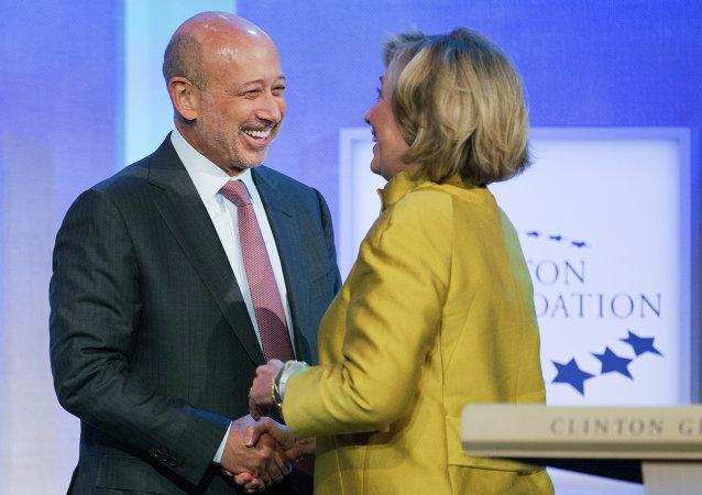 Hillary Clinton and Goldman Sachs CEO Lloyd Blankfein
