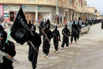 ISIL marching in Raqqa, Syria.