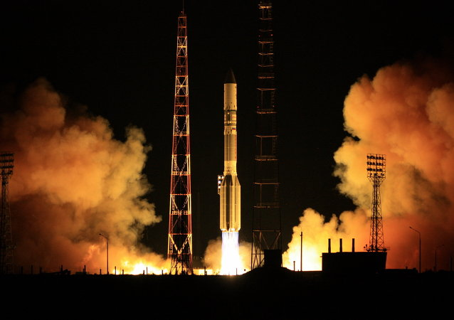 Launch of Proton-M carrier rocket from the Baikonur Space Center