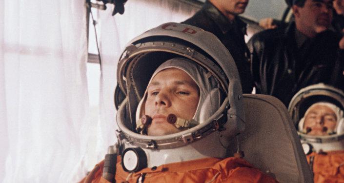 Yuri Gagarin and German Titov