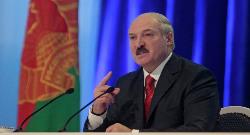 Incumbent Belarusian President Alexander Lukashenko.