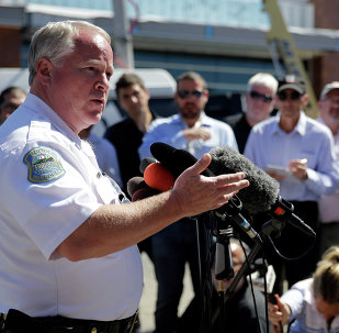 Ferguson Police Chief Thomas Jackson speaks in Ferguson. File photo