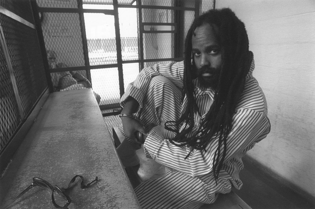 Mumia Abu-Jamal in prison circa 1998
