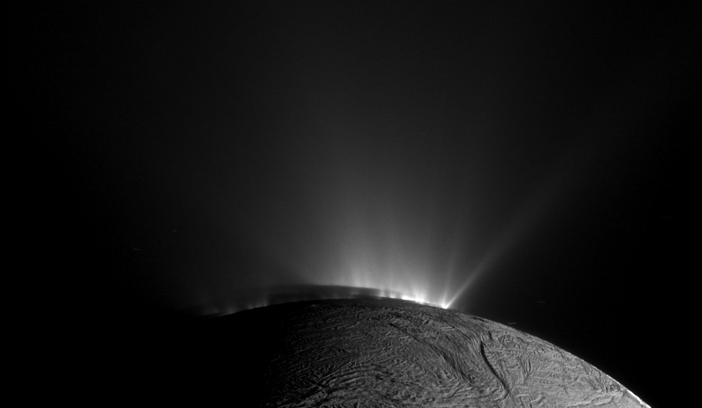 The shadow of Enceladus