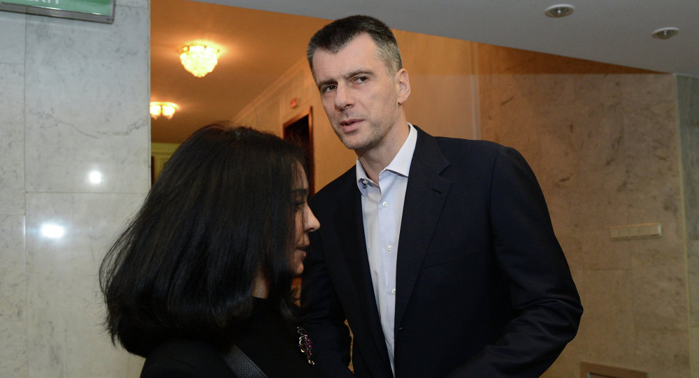 Politician and businessman Mikhail Prokhorov