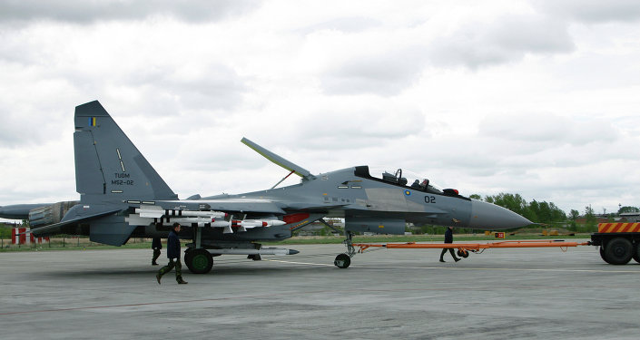 Wheeling out Su-30MKM plane manufactured by order from the Malaysian Air Force