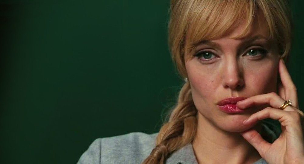 Angelina Jolie playing the role of Evely Salt, a CIA agent accused of being a Russian spy