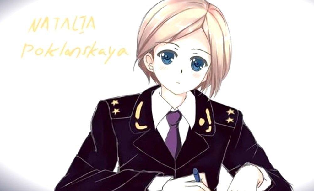 An anime image of Natalia Poklonskaya