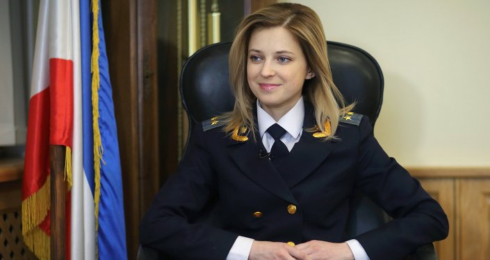 Crimea Prosecutor Natalia Poklonskaya in her office in Simferopol