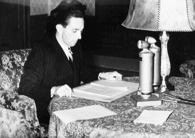 German Minister of Propoganda Dr. Joseph Goebbels