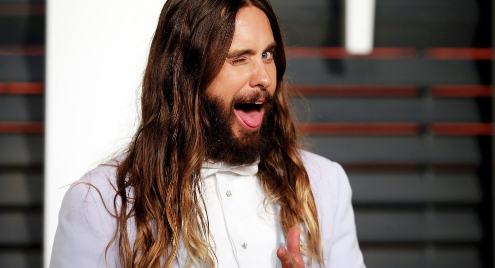 Actor Jared Leto arrives at the 2015 Vanity Fair Oscar Party in Beverly Hills, California February 22, 2015.