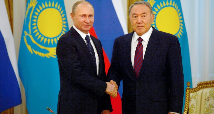 March 20. 2015. President Vladimir Putin (left) and President of Kazakhstan Nursultan Nazarbayev during a meeting at the Akorda residence