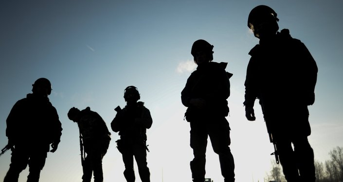Personnel of the Special Rapid Response Unit practice prior to going on a mission in Dagestan