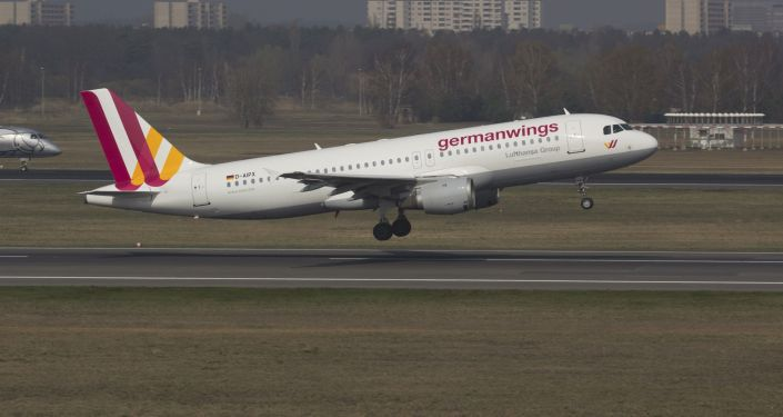 A Germanwings Airbus A320 registration D-AIPX is seen at the Berlin airport in this March 29, 2014 file photo.