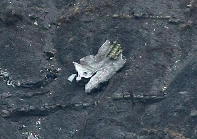 Debris of the crashed Germanwings passenger jet