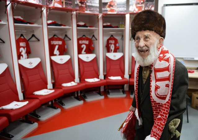 FC Spartak Moscow's oldest fan Otto Fisher