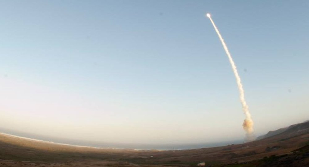 An image provided by Vandenberg Air Force Base shows an unarmed Minuteman III intercontinental ballistic missile being launched during an operational test Wednesday May 22, 2013, from Launch Facility-4 on Vandenberg AFB, Calif