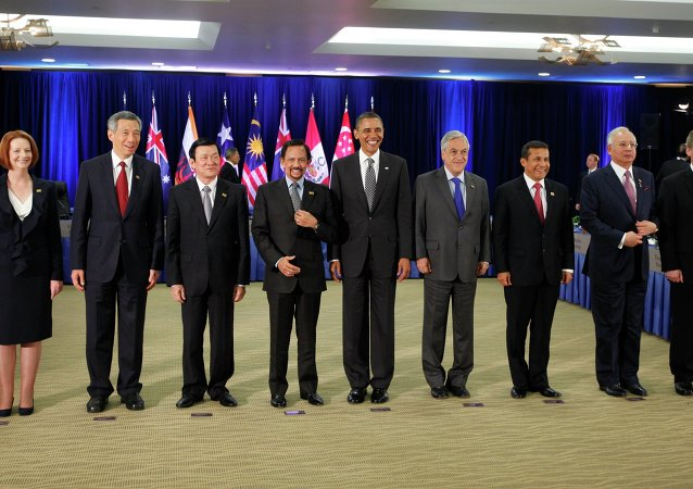 President Barack Obama meets with Trans-Pacific Partnership leaders during the APEC summit in Honolulu, Hawaii, Saturday, Nov. 12, 2011