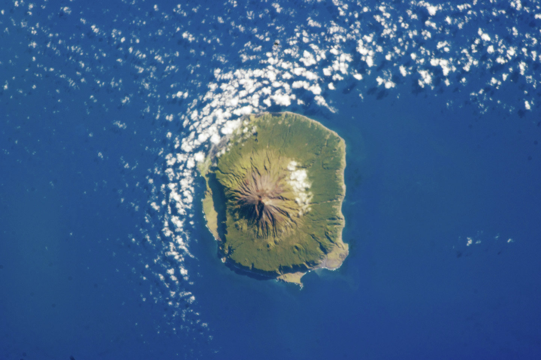 Tristan da Cunha as seen from the International Space Station