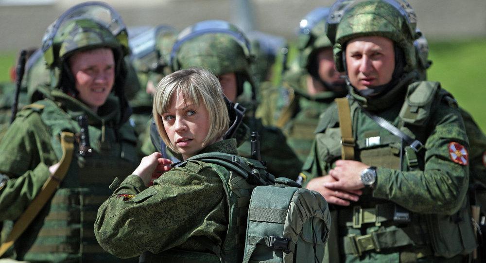 Preparations for drill inspection of Simferopol brigade of Russian Interior Ministry